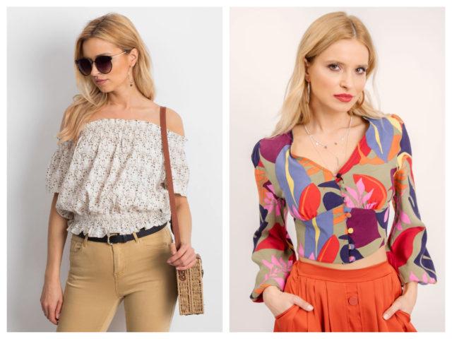 Krótkie wzorzyste bluzki – z czym je nosić jesienią?