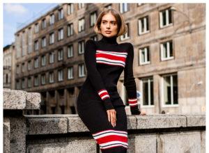Sukienki z golfem – moda na jesień i zimę 2021